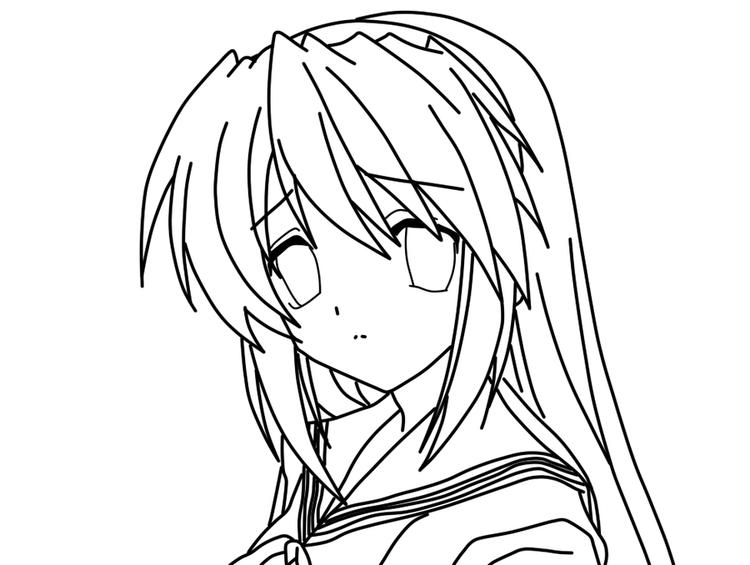 Manga Coloring Pages Sad Face