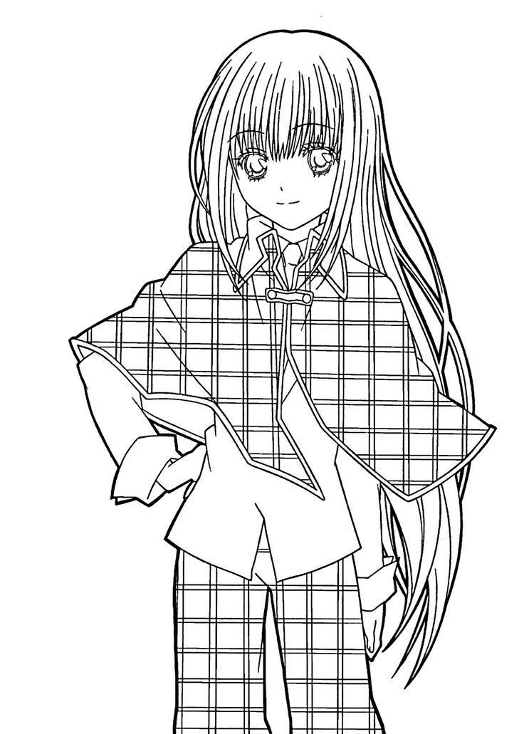 Manga Girl Coloring Pages Printable