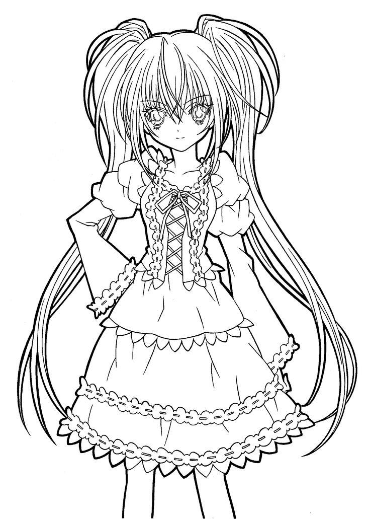 Manga Girl Coloring Pages To Print