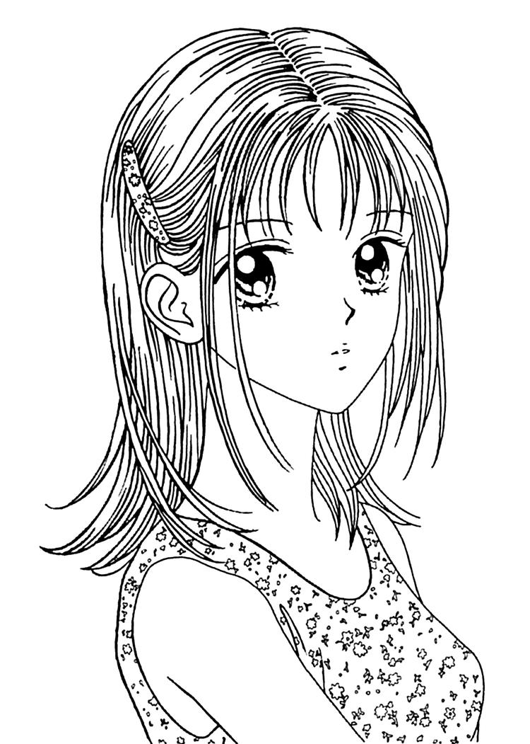 Manga Girl Coloring Pages