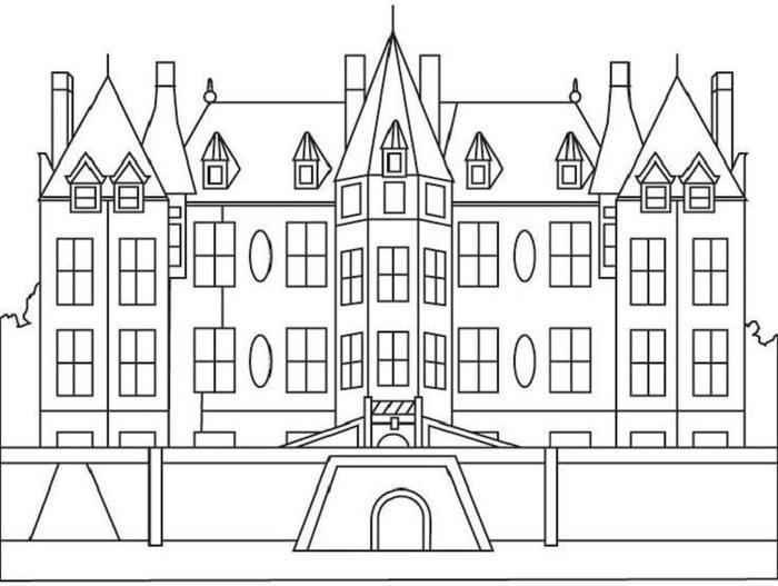 Mansion House Coloring Pages