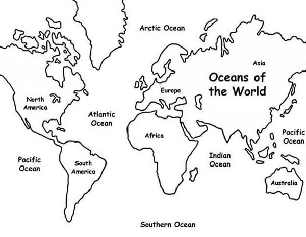 Maps Of Southern Ocean Coloring Pages