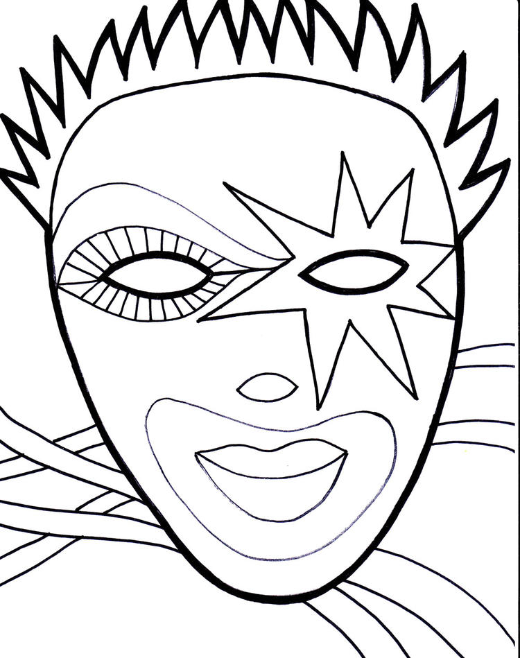 Mardi Gras Coloring Pages For Boys