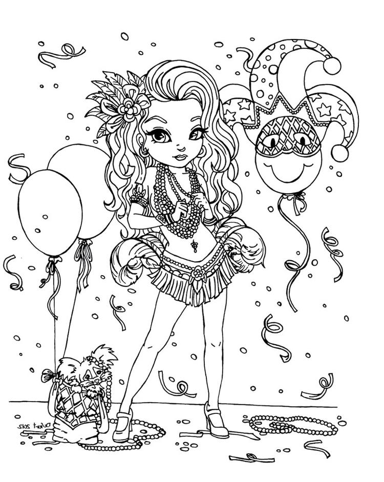 Mardi Gras Coloring Pages For Girls