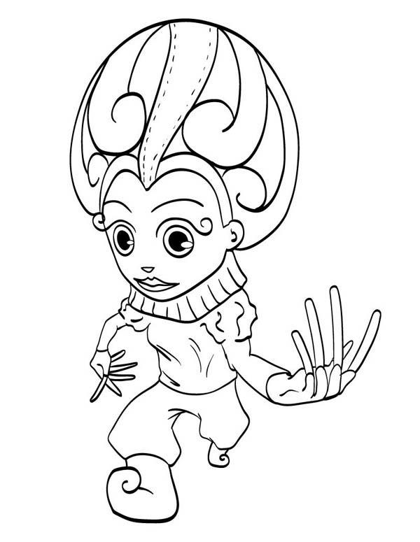 Mardi Gras Coloring Pages Jester Costume