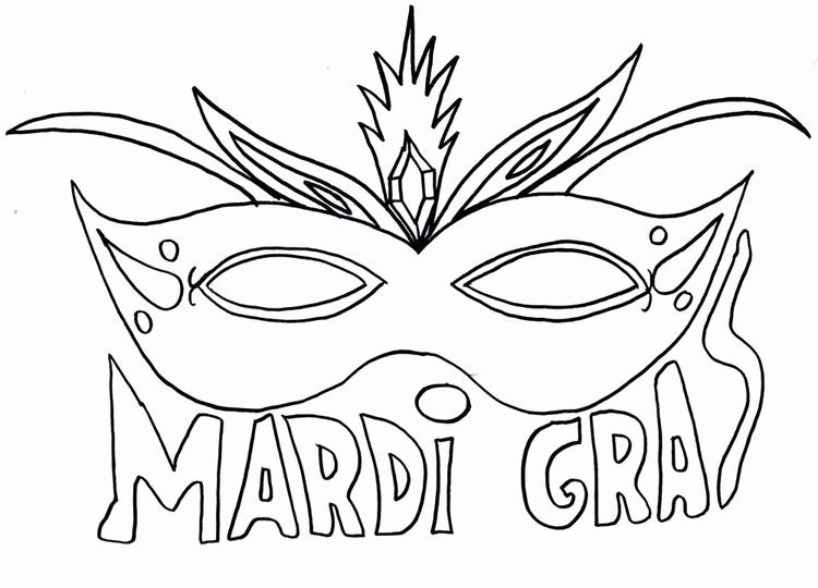 Mardi Gras Coloring Pages Mask