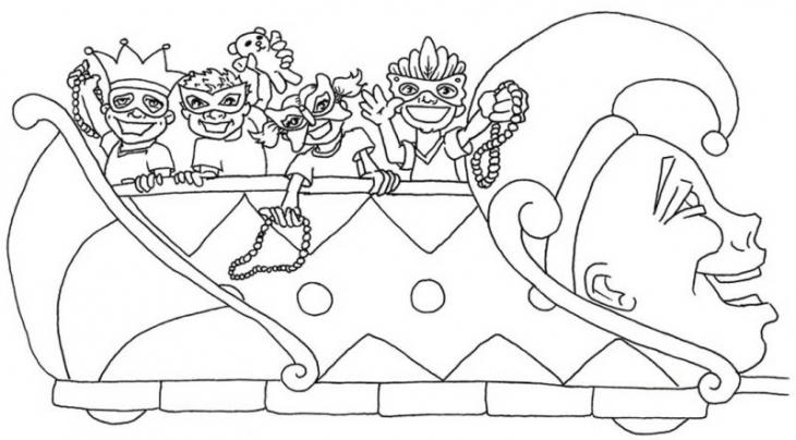 Mardi Gras Coloring Pages Parade