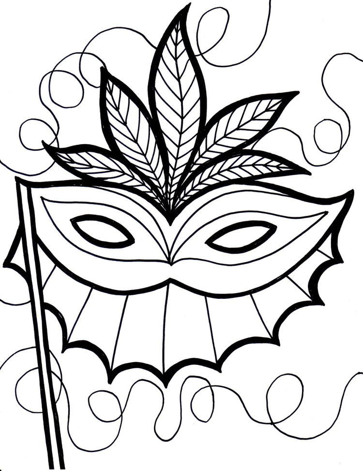 Mardi Gras Coloring Pages Printable