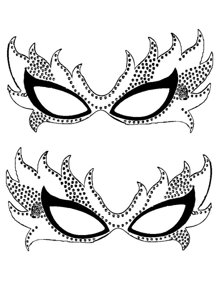 Mardi Gras Mask Coloring Pages For Girls