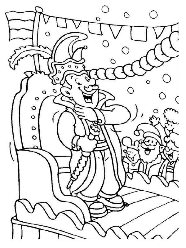Mardi Gras Parade Coloring Pages To Print