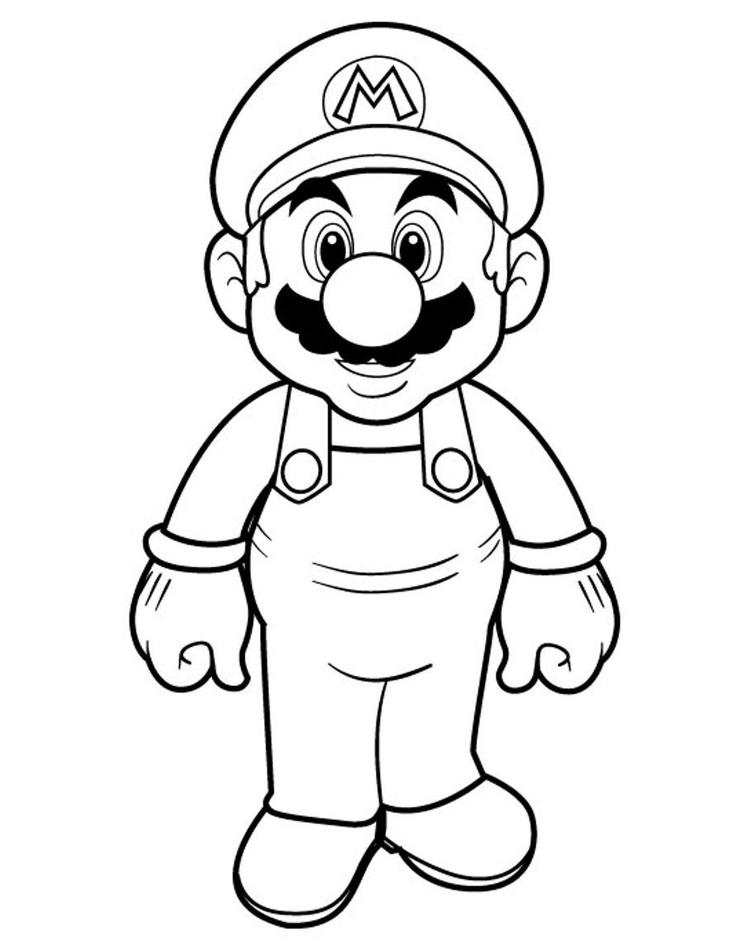 Mario Bros Coloring Pages For Kids