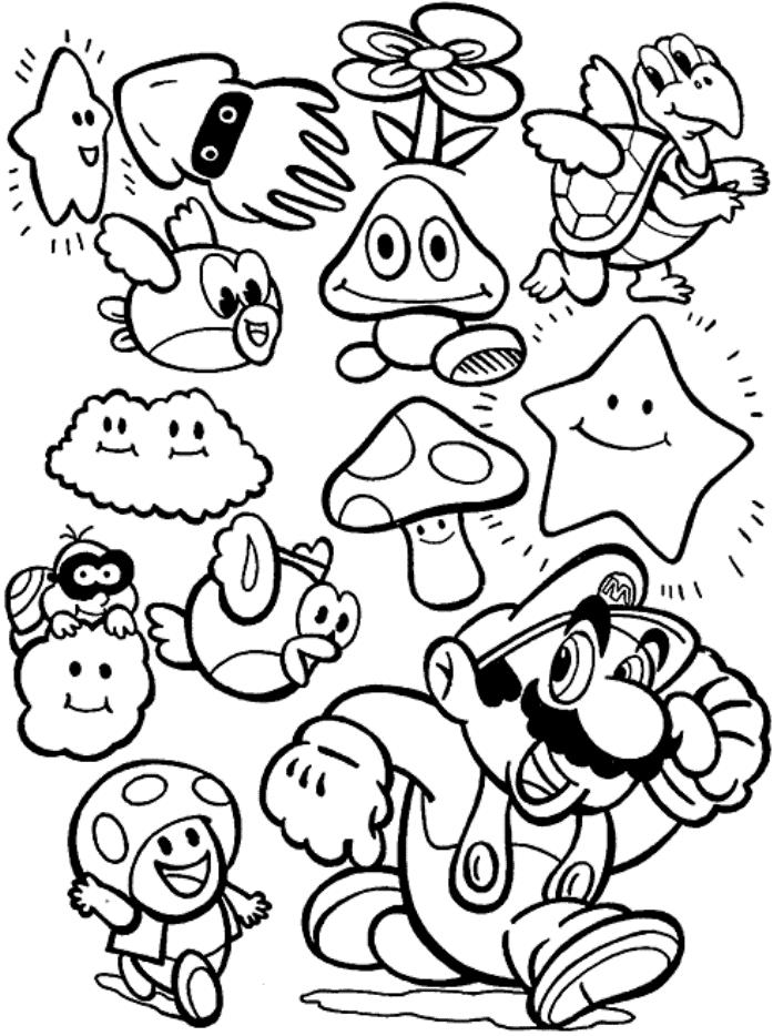 Mario Coloring Pages Games