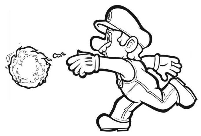 Mario Hoops Coloring Pages