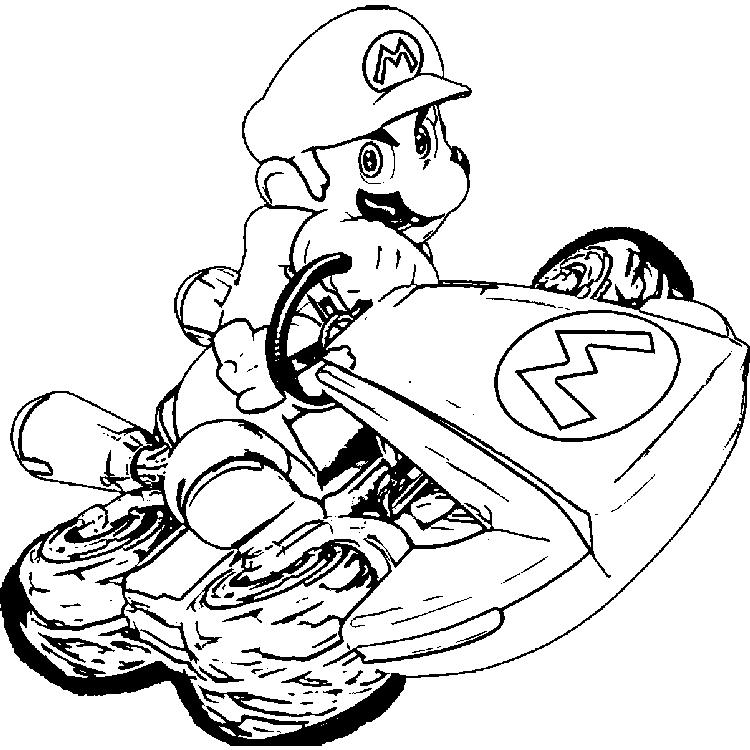 Mario Kart 8 Coloring Pages Super Mario