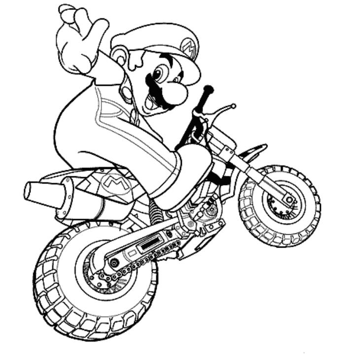 Mario Racing Coloring Pages