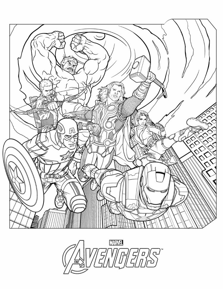 Marvel Avengers Coloring Pages In Action