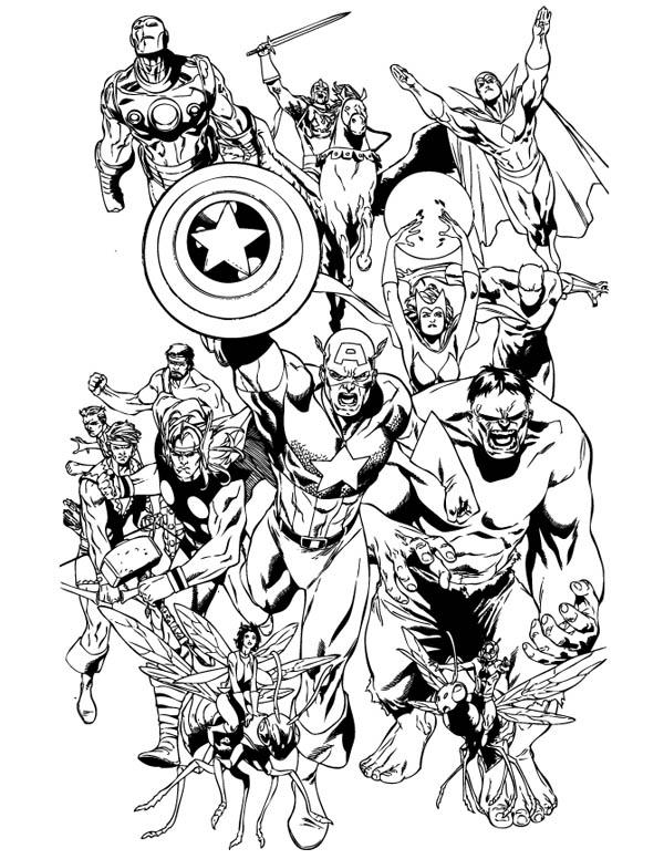 Marvel Coloring Pages All Heroes