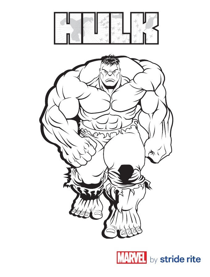 Marvel Coloring Pages Hulk Print Out