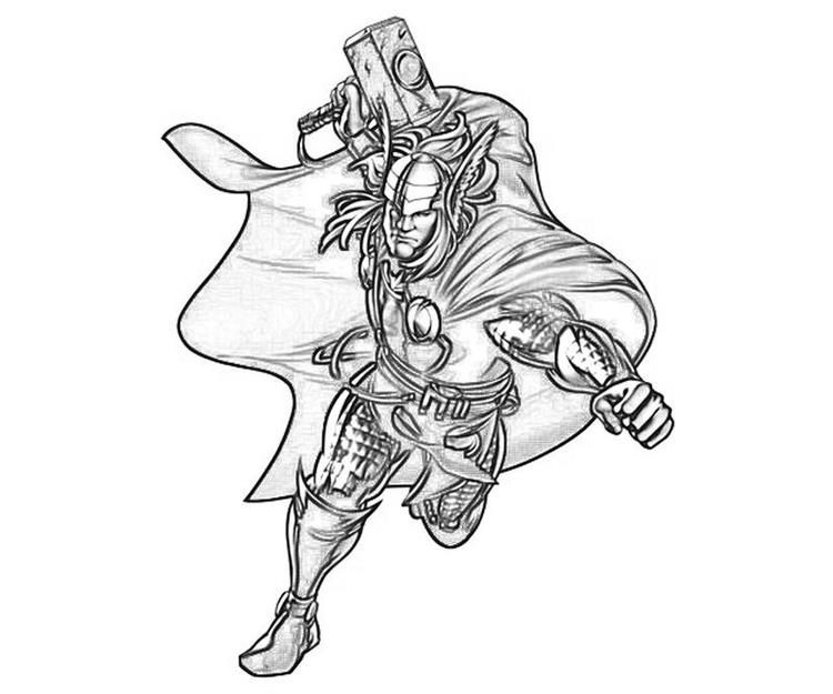 Marvel Coloring Pages Thor For Child