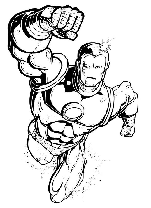 Marvel Superhero Coloring Pages Iron Man
