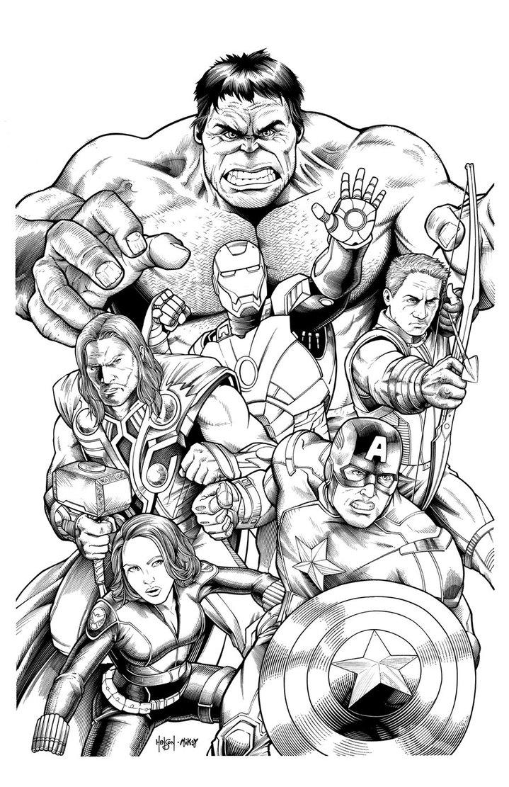 Marvel The Avengers Coloring Pages