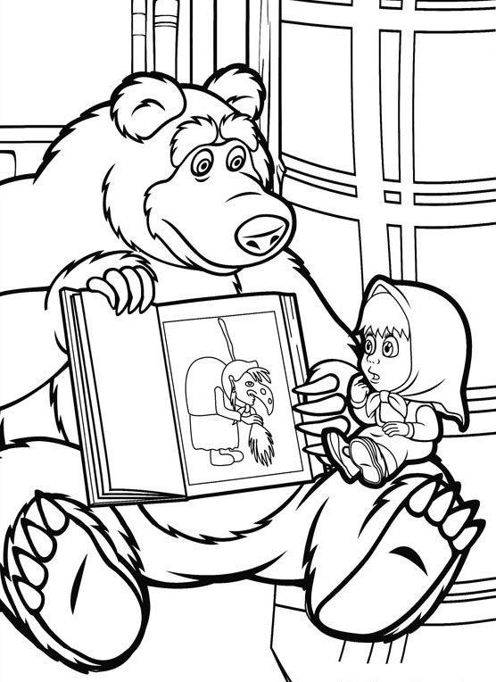 Masha And The Bear 03 Coloring Pages 1