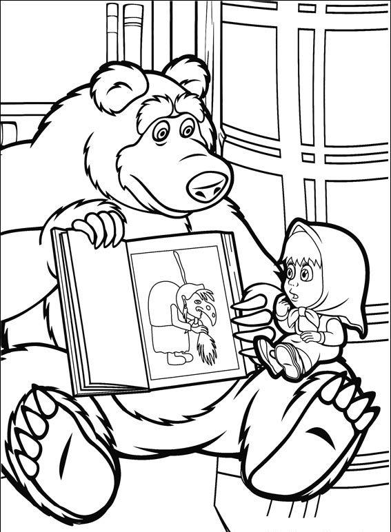 Masha And The Bear 03 Coloring Pages