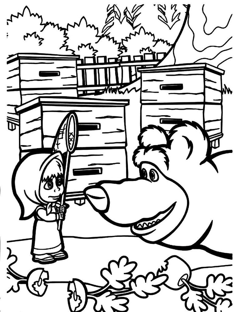 Masha And The Bear Coloring Pages 02