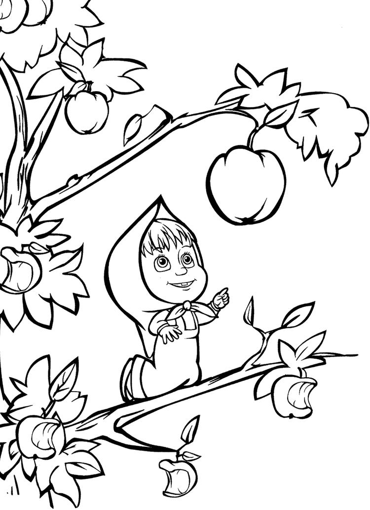 Masha And The Bear Coloring Pages For Children
