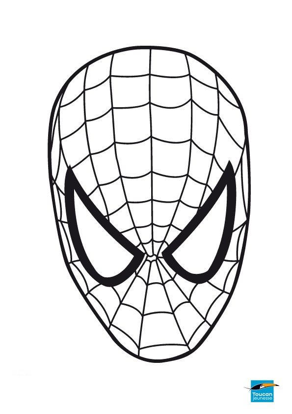 Mask Marvel Coloring Pages Spiderman