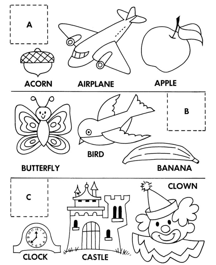 Matching Alphabet Coloring Pages Printable