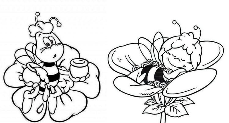 Maya The Bee Buzzes Coloring Page To Print