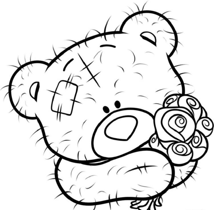 Me To You Bear Coloring Pages