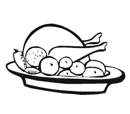 Meal Thanksgiving Coloring Pages For Kids