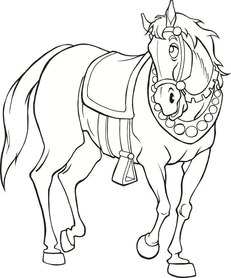 Medieval Horse Coloring Pages Free