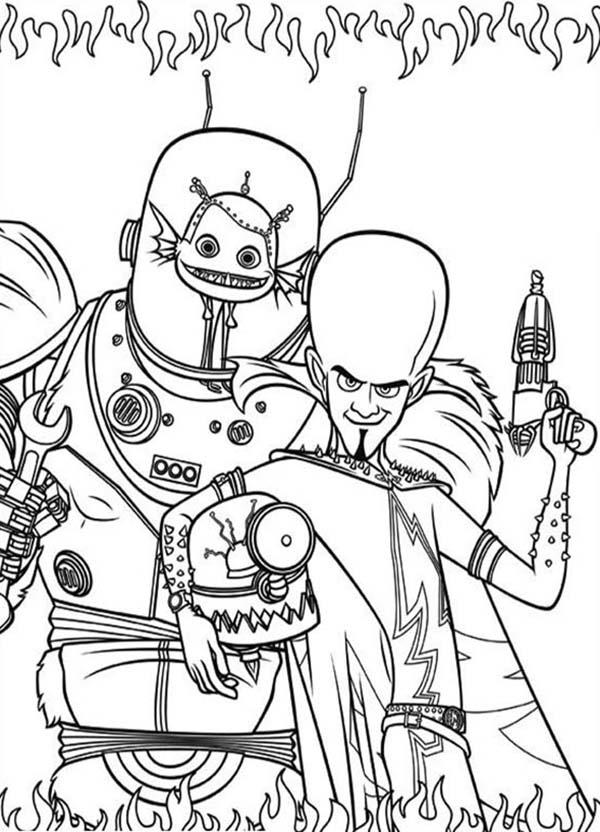 Megamind Coloring Pages For Kids