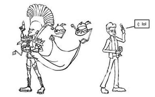 Megamind Copying Bernard Coloring Pages