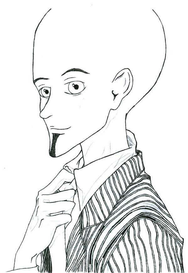 Megamind In Suit Coloring Pages