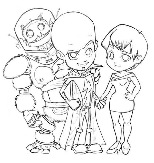 Megamind Main Characters Coloring Pages