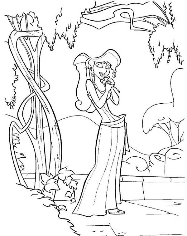 Megara Daydreaming About Hercules Coloring Pages