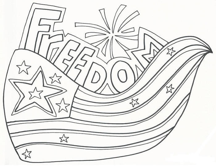 Memorial Day Coloring Pages Freedom