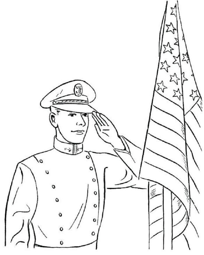 Memorial Day Coloring Pages Soldier
