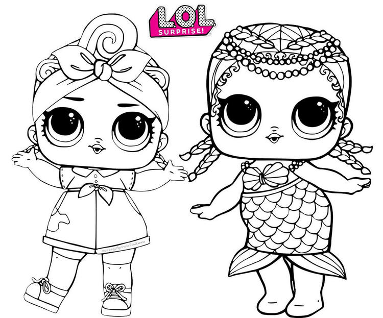 Merbaby Mermaid And Can Do Baby Lol Surprise Coloring Page