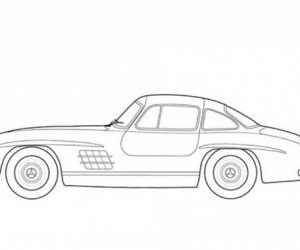 Mercedes benz 300sl classic cars coloring pages