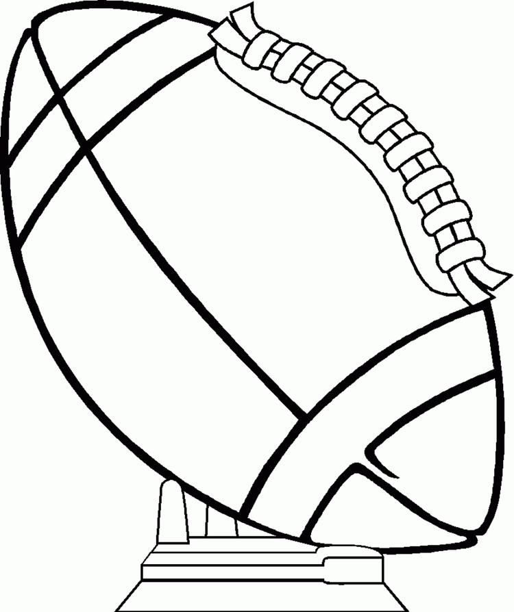 Merican Football Coloring Pages Trophy
