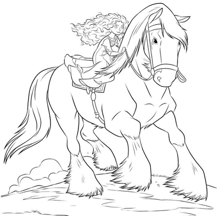 Merida And Angus Brave Coloring Pages