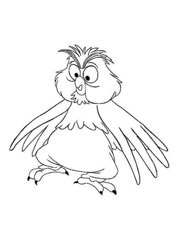 Merlin The Wizard Change Into Little Owl Coloring Pages
