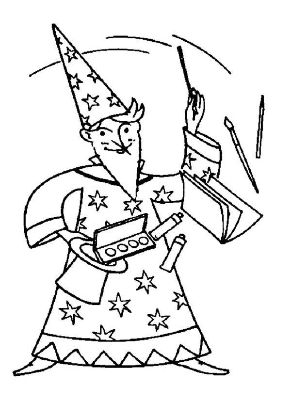 Merlin The Wizard Magic Show Coloring Pages