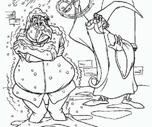 Merlin the wizard snow attack coloring pages