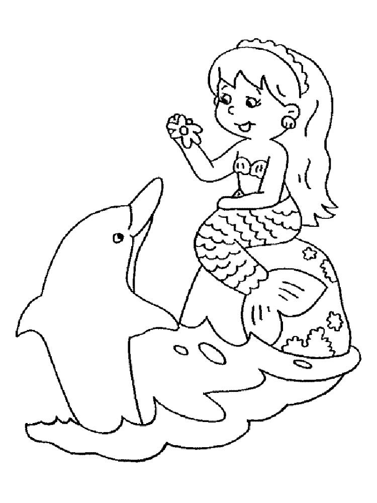 Mermaid Coloring Pages Free